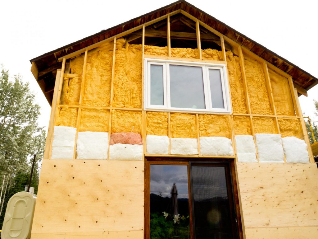 a house with insulation coating
